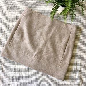 J. Crew Factory Wool Blend Mini Skirt